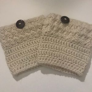Accessories - NWOT Hand Knit Boot Cuffs